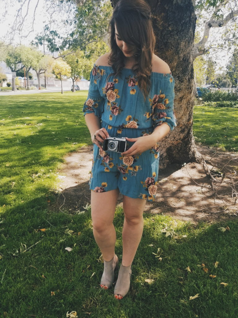 antique camera, summer, spring, outfit, cute