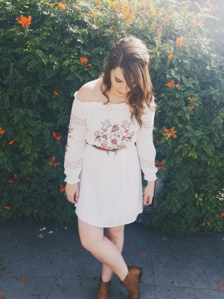 dress, flowers, target, brunette, boots, lauren conrad, spring, summer, lookbook
