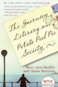 Cover of the book The Guernsey Literary and Potato Peel Pie Society by Mary Ann Shaffer and Annie Barrows, links to Amazon