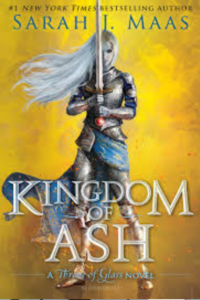 Cover of the book Kingdom of Ash by Sarah J Maas, links to Amazon