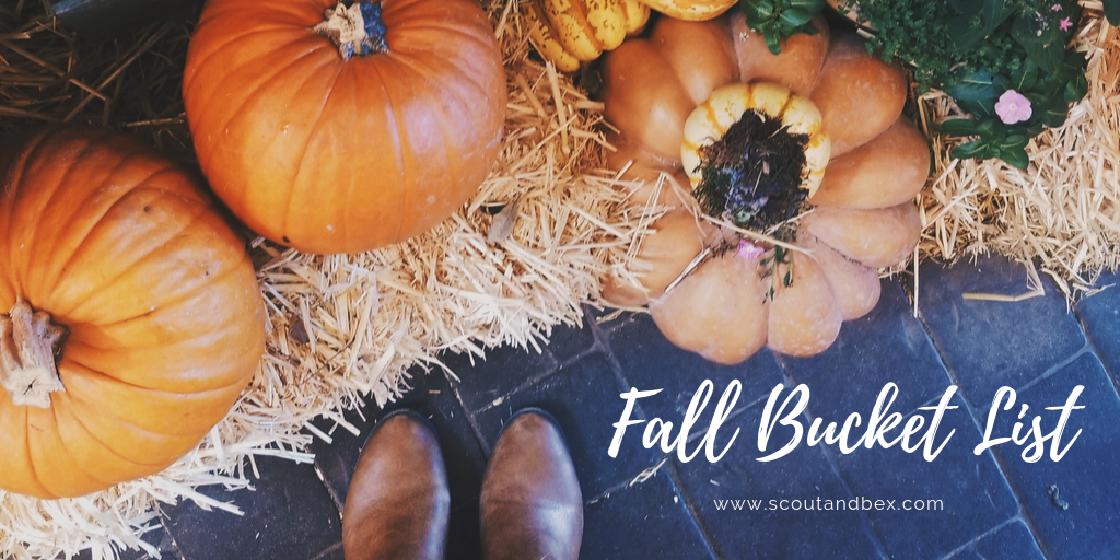 Fall Bucket List by Scout and Bex
